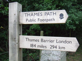 Thames Source Sign